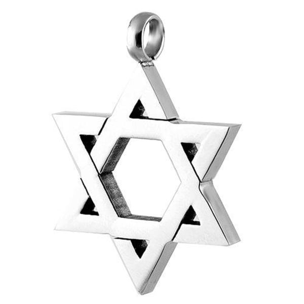Star Of David Pendant Stainless Steel Necklace