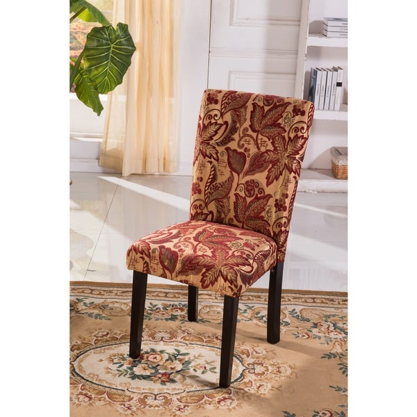 luxury comfort classic floral print print parson chairs set of 2