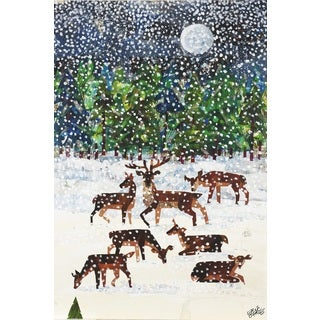 Eric Carle Deer Canvas Print