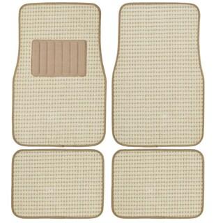 Motor Trend 4-piece Heavy Woven Berber Style Floor Mats