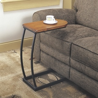 Coaster Company Distressed Oak U-Shaped Snack Side Sofa Table