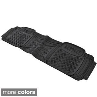 BDK Diamond Style Single Rear Heavy Duty Rubber Car Floor Mat