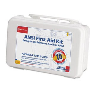 First Aid Only Ansi-Compliant First Aid Kit, 64-pieces, Plastic Case