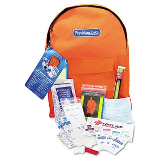 PhysiciansCare Emergency Preparedness First Aid Backpack, 43 Pieces/Kit