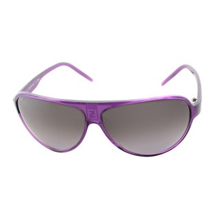 Fendi Women's 'FS 1014M 538' Dark Violet Plastic Aviator Sunglasses