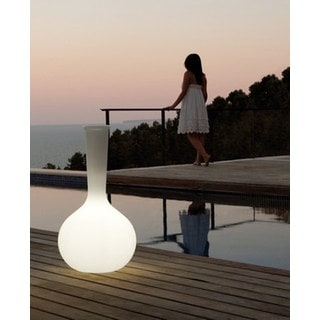 Contempo Lights LuminArt Mystic LED Color-Changing Floor Lamp with Remote