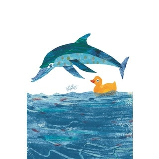 Eric Carle 10 Little Rubber Ducks Character Art Dolphin Canvas Print