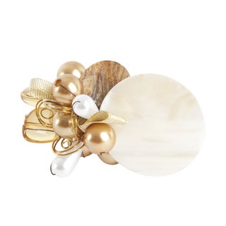 Faux Pearl Design Napkin Rings (Set of 4)