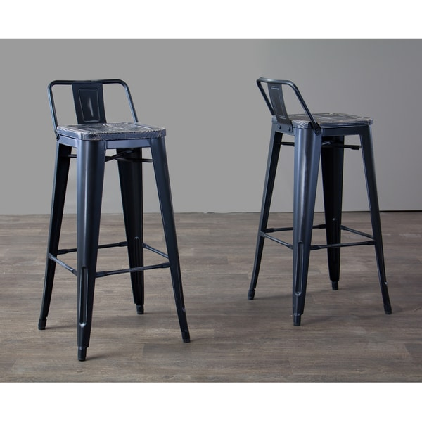 Industrial Black Metal Bar Stool by Baxton Studio Free  : Baxton Studio Garrard Antique Black Finished Industrial Metal Stool in Wood Top With Low Back Set of 2 655bf8aa db19 407e a3fc f4bc36c576fe600 from overstock.com size 600 x 600 jpeg 44kB
