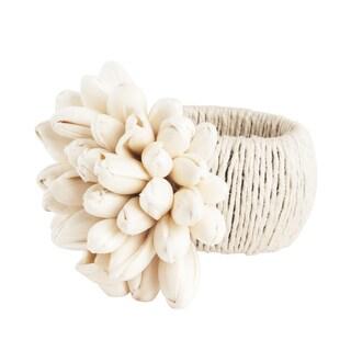 Petite Tulip Design Napkin Rings (Set of 4)