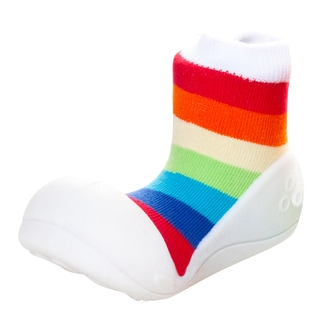 Attipas Infant Rainbow/ White Cotton and Rubber Shoes