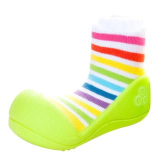 Attipas Infant Yellow/ Rainbow Cotton and Rubber Shoes