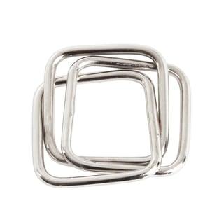 Three Squares Design Napkin Rings (Set of 4)