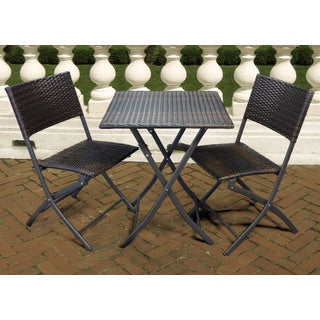 Jordan Manufacturing Three-Piece Wicker Bistro Set