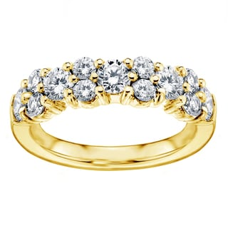 14k/ 18k Yellow Gold 2ct Brilliant-cut Garland Diamond Wedding Band (G-H, SI1-SI2)