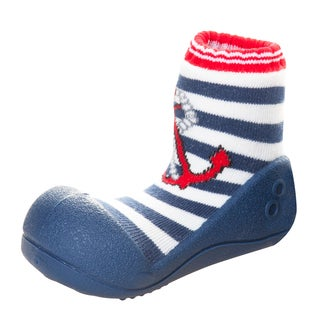 Attipas Infant 'Marine Anchor' Cotton and Rubber Walking Shoes