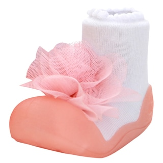 Attipas Infant Girls Pink Corsage Training Shoes