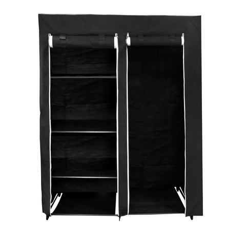 Florida Brands 62 Portable Wardrobe Closet with 4-shelves, Hanging Space, Zippered Front Doorm, and Sturdy Frame