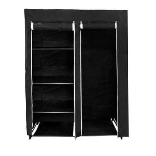 Florida Brands 62 Portable Wardrobe Closet with 4-shelves, Hanging Space, Zippered Front Doorm, and Sturdy Frame (3 options available)