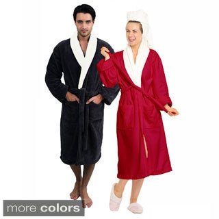 Amraupur Overseas Unisex Flannel Bathrobe