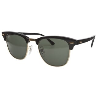 ray ban mens sunglasses aviator  ray ban clubmaster rb3016 unisex black frame green classic sunglasses