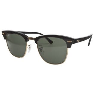 Ray-Ban Clubmaster RB3016 Unisex Black Frame Green Classic Sunglasses