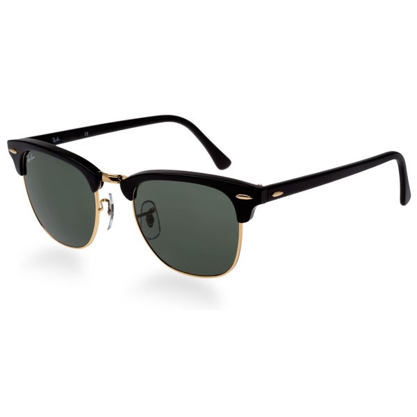 99677df997 Ray-Ban Clubmaster RB3016 Unisex Black Frame Green Classic Sunglasses