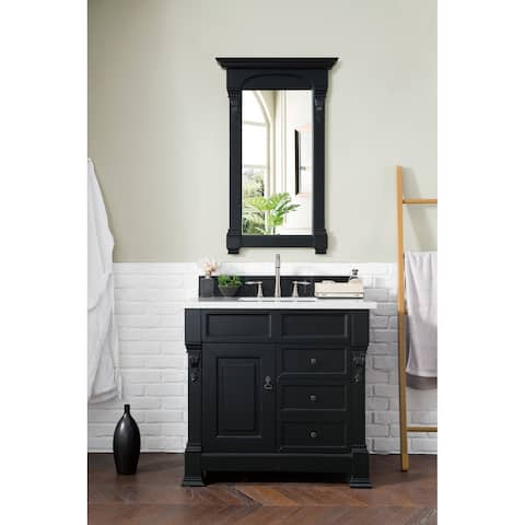 """Brookfield 36"""" Single Antique Black Cabinet w/ Drawers"""