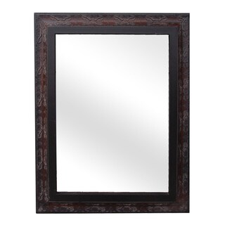 Legion Furniture Dark Cherry 35.4-inch Wall Mirror