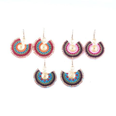 Colorful Bohemain Earrings (Thailand)