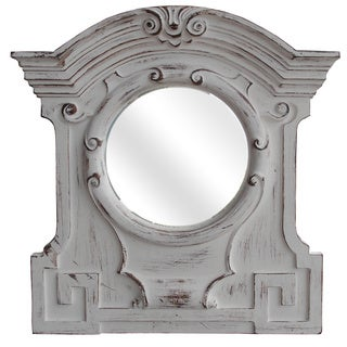 Legion Furniture Distressed Antique white 33.9-inch Wall Mirror
