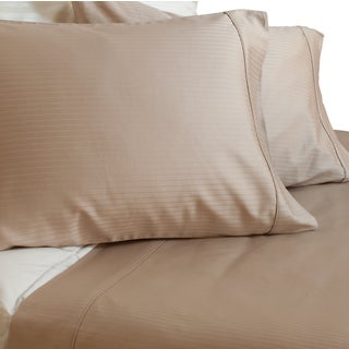 Austin Horn Classics 600 Thread Count Dobby Supima Beige Cotton 4-piece Sheet Set