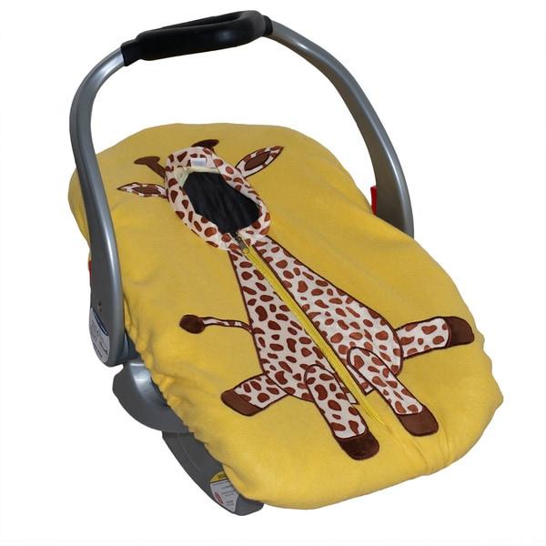 Giraffe Infant Car Seat Fleece Cover