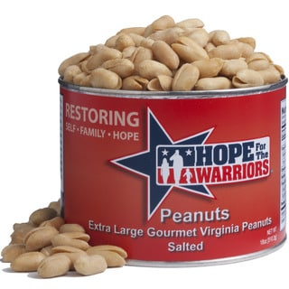 Hope For The Warriors Virginia Salted Peanuts 18-ounce Can