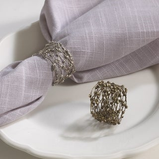 Metal Design Napkin Rings (Set of 4)
