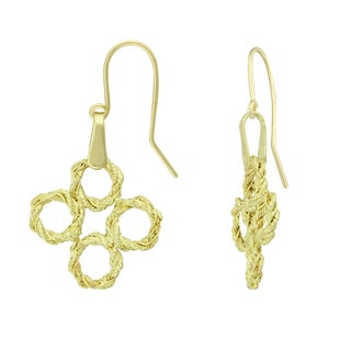14K Yellow Gold Multi-circle Dangle Earrings (Option: Yellow)