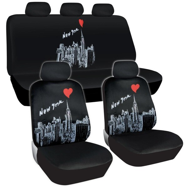 Memorial Day Car Sale >> BDK New York Design Car Seat Covers Full Set (Universal Fit) - Free Shipping On Orders Over $45 ...