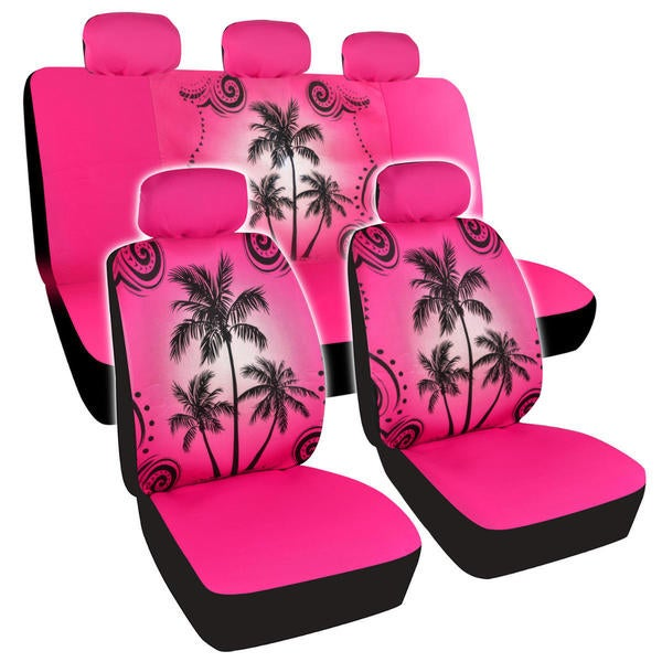 f4405c5a BDK Palm Tree Design Car Seat Covers Full Set (Universal Fit). Click to Zoom