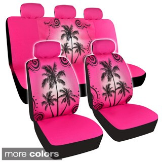 BDK Palm Tree Design Car Seat Covers Full Set (Universal Fit)