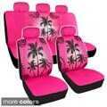 BDK Palm Tree Design Car Seat Covers Full Set (Universal Fit)