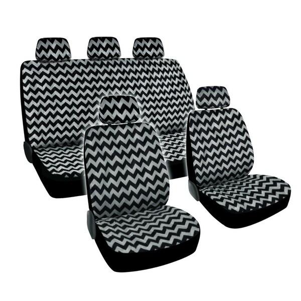 BDK Chevron Design Car Seat Covers Full Set Universal Fit