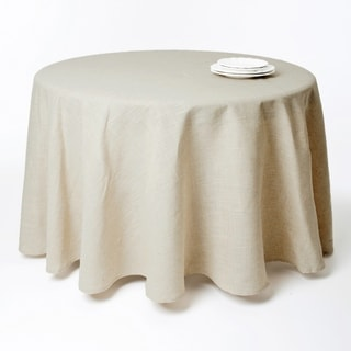 Toscana Natural Linen Blend Round Tablecloth