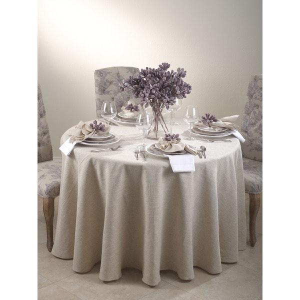 Toscana Natural Round Tablecloth