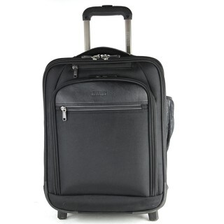 Kenneth Cole Reaction ProTec Softside Triple Compartment Wheeled 17in Laptop Carry On Pullman Luggage / Overnighter Suitcase