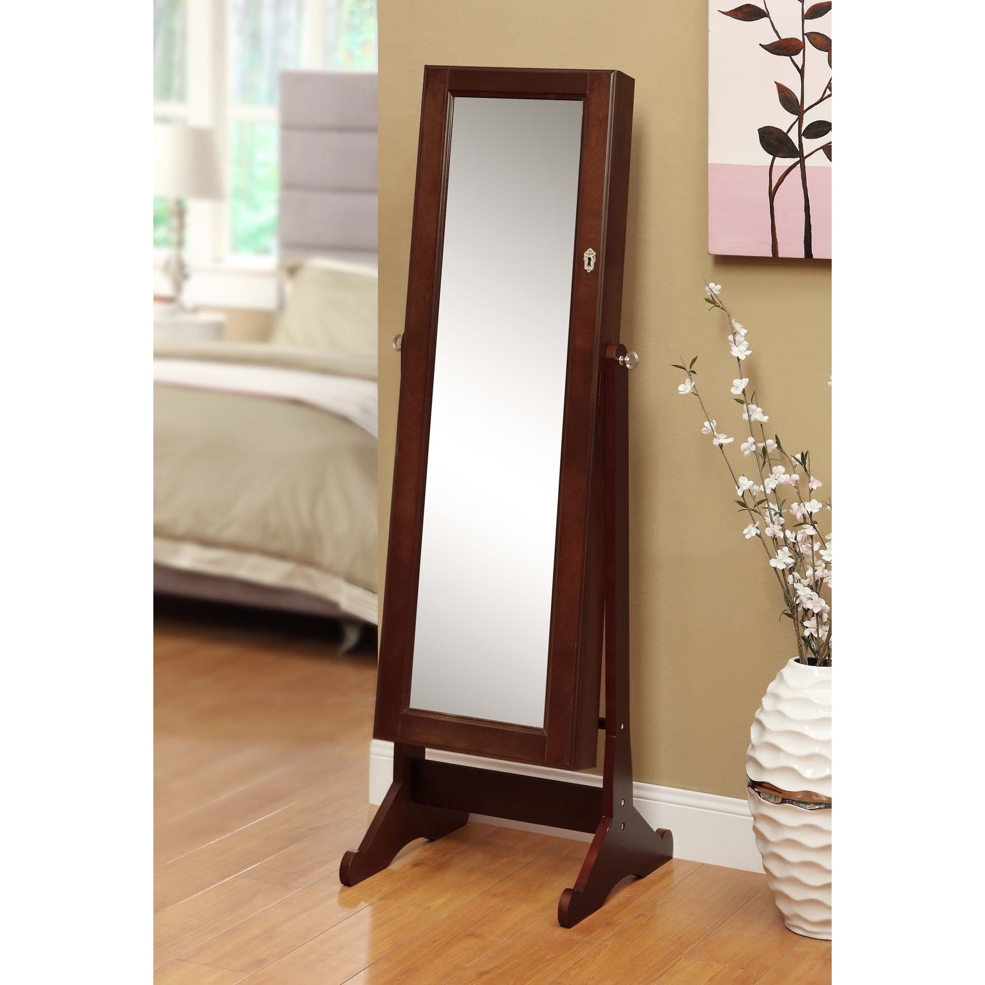 Armoire D Angle Dressing premium cherry wood cheval mirror/ jewelry cabinet organizer case