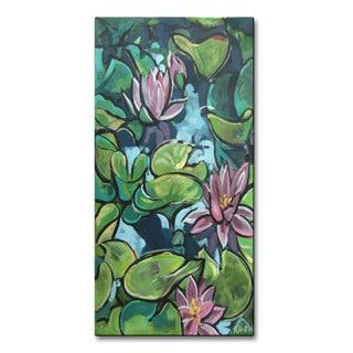 Roger Akesson 'Waterlilies' Metal Wall Art