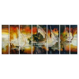 Darlene Garr 'Sailing In Moonlight' Metal Wall Art 7-piece Set