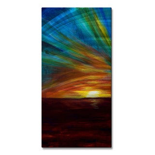 Alisha Vernon 'Ocean Sunset' Metal Wall Art Sculpture