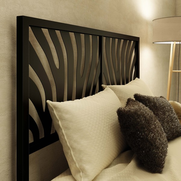 Amisco Zebra Full Size Metal Headboard