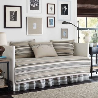 Stone Cottage Fresno Neutral 5-piece Quillted Daybed Cover Set (As Is Item)